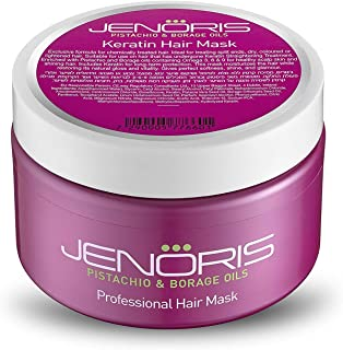 Sponsored Ad - Jenoris Keratin Hair Mask 8.45 fl.oz Blend of Natural Keratin and Pistachio Oil to complete the nourishing ...