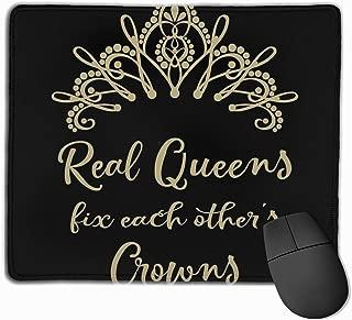 """本当の女王はお互いを修正します マウスパッド ゲーミング オフィス高級感 おしゃれ 防水 耐久性が良い 滑り止めゴム底 ゲーミングなど適用 マウスの精密度を上がる9.8""""x 11.8"""""""