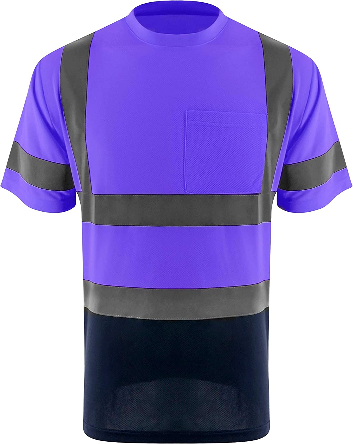ZUJA Safety High Visibility Sales for sale Standard Sleeve Men Super beauty product restock quality top Breathable Short