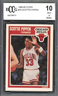 1988-89 fleer #23 SCOTTIE PIPPEN (2nd YEAR CARD) chicago bulls BGS BCCG 10 Graded Card