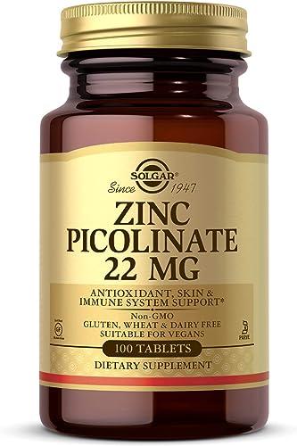 Solgar, Zinc Picolinate, 100 Comprimés végétariens, sans gluten, sans soja