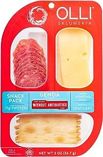Olli Salumeria Genoa & Fontina Cracker Snack Tray, 2 oz