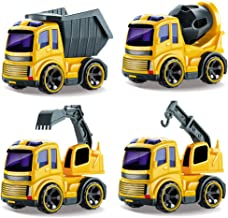 Arkmiido Construction Toys Sets, 4 Pieces Mini Vehicles,Toy Early Engineering Vehicle
