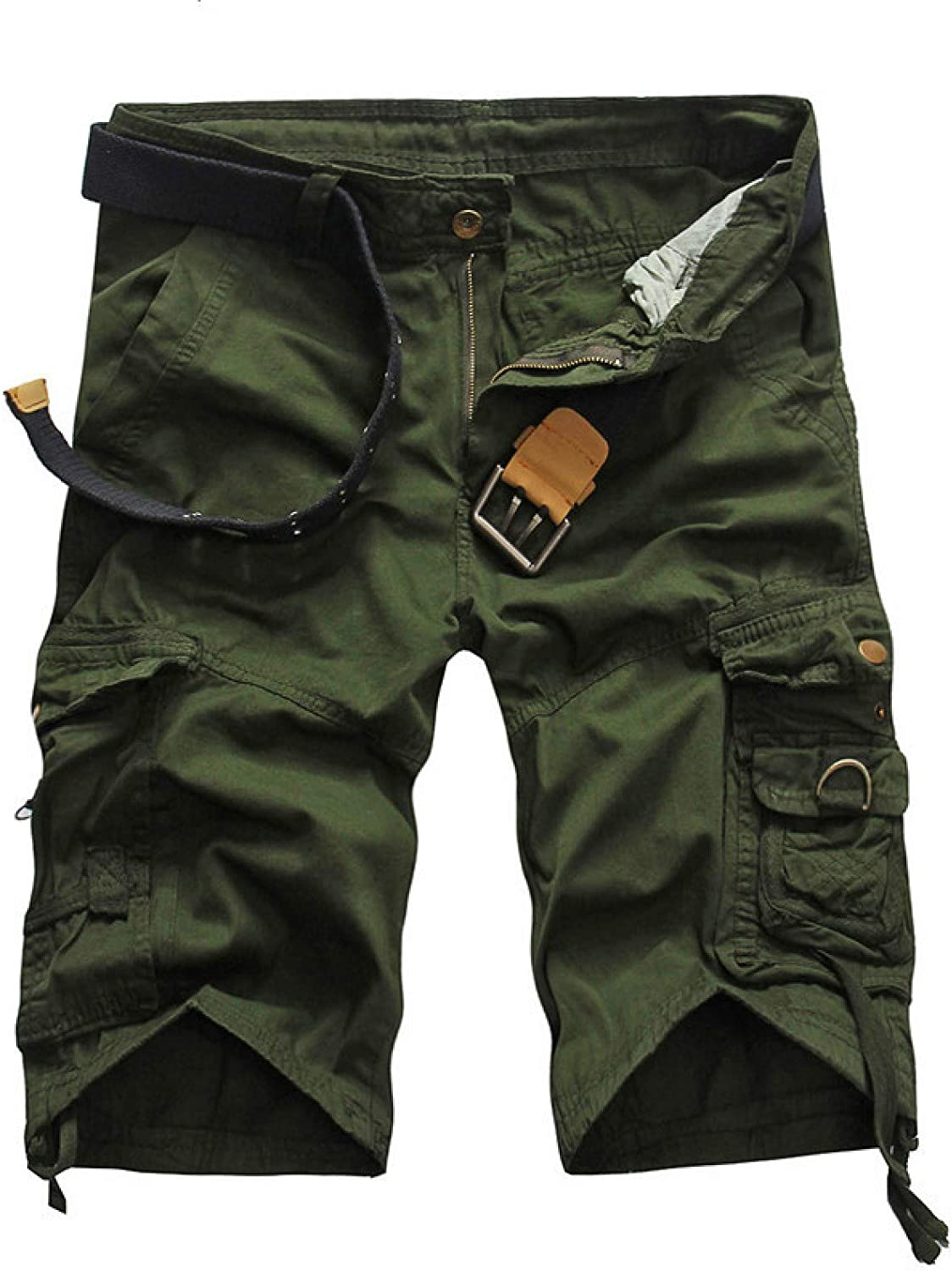 Wantess Men's Cargo Shorts Summer Loose Large Size Casual Comfortable Breathable Hiking