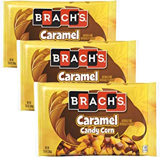Brachs Caramel Candy Corn Seasonal Fall Candy Dish Candies - Perfect for Home, Office, School - Adults, College Students,Girls or Boys - Bulk Trick or Treat Halloween Candies - Pack of 3