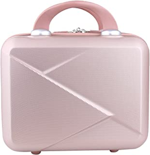 Genda 2Archer Hard Shell Cosmetic Case Mini Hardshell Travel Hand Luggage 14inch (Rose Gold)