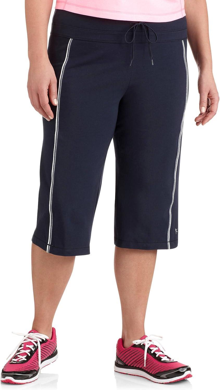Danskin Now Women's PlusSize DriMore Core Piped Bermuda Shorts