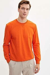 DeFacto Basic Sweatshirt Turuncu XXL