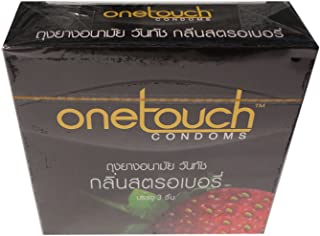 Onetouch Condoms Strawberry 3 Pieces Per Box (Pack of 2)