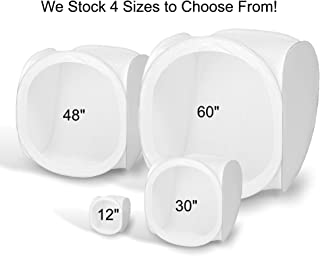 2090 Square Perfect 30 Inch Light Tent Photo Cube Softbox with 4 Colored Backgrounds For Product Photography