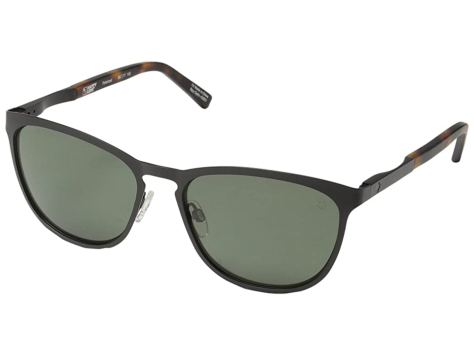 Spy Optic Cliffside (Matte Black/Matte Honey Tort/Happy Gray Green Polar) Sport Sunglasses
