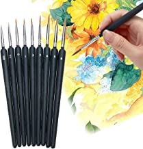 9 PCS Paint Brushes Set Nail Art Brushes Professional Sable Hair Extra Fine Detail Brushes for Watercolour Painting Acryli...