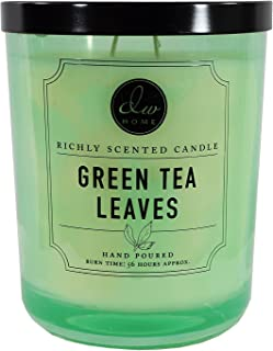 DW Home Green Tea Leaves 15.48 oz. Candle in glass jar