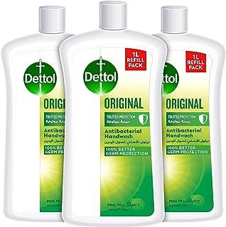 Dettol Original Handwash Liquid Soap Refill, Pine Fragrance, 1L, Pack of 3