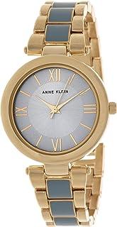 Anne Klein Womens Quartz Watch, Analog Display and Stainless Steel Strap AK3040LBGB