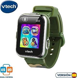 VTech 3480-193877 Kidizoom Smart Watch DX2 - Reloj inteligente para niños con doble cámara, color camou