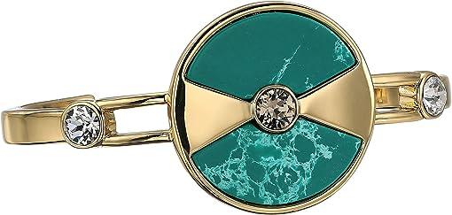 Gold/Greige/Crystal/Green Jasper