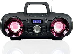Toshiba Wireless Bluetooth Boombox Speaker: Portable CD Boom Box with FM Radio, Remote..