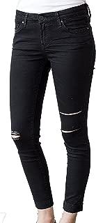 DEAR JOHN Women's Joyrich Ankle Skinny Jeans Carbon Black