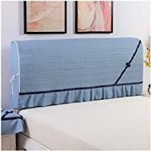 Dustproof Protector Cover Stretch Bed Headboard Slipcover Covers Dustproof Solid Bed Headboard Cover Stretch Single Double...