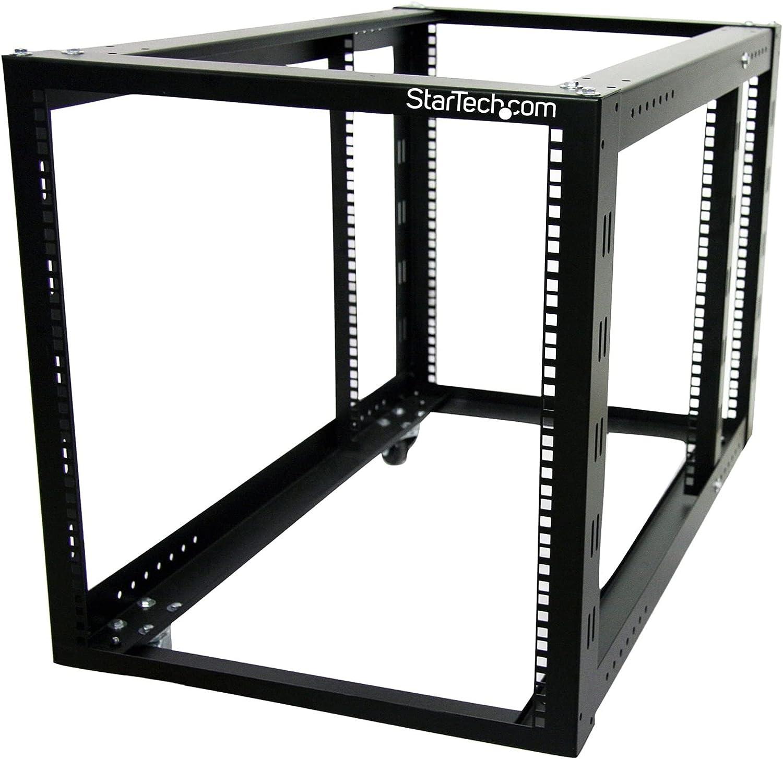 StarTech.com 12U Open Frame Server Rack - 4 Post Adjustable Depth (3.8