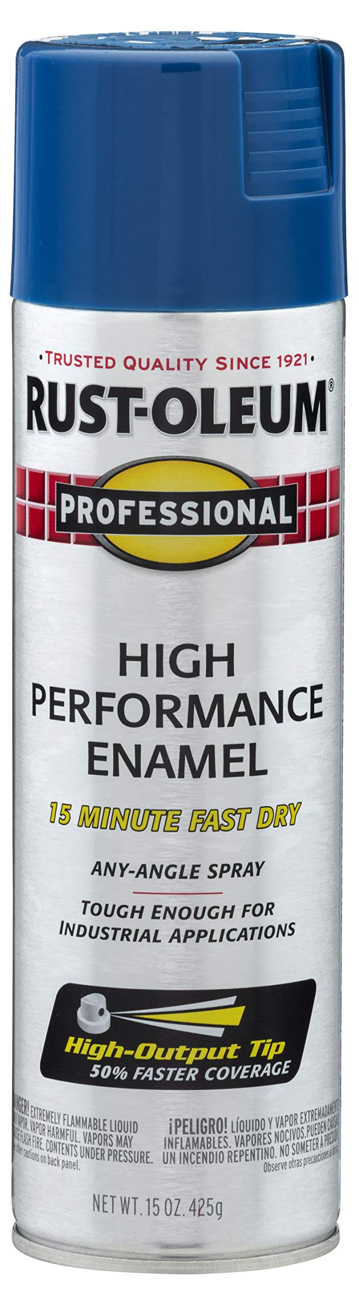 Rust-Oleum 7527838 Professional High Performance Enamel Spray Paint, 15 Oz, Gloss Royal Blue, 15 Ounce