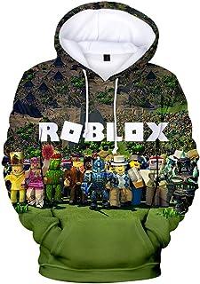 MINIDORA Hoodie Roblox Niños Sudadera con Capucha Unisex Jersey Suéter de Juego