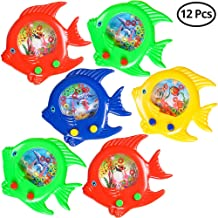 Fish Water Ring Game (Pack OF 12) Fish Handheld Toy, In Assorted Colors, For Kids Small Game Prize, Party Favors, Rewords, By Bedwina