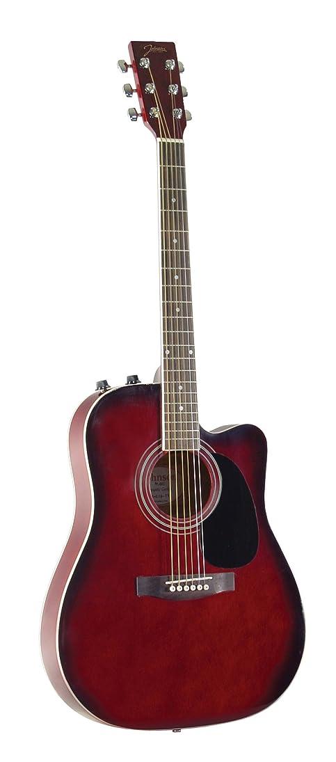 咽頭盲目検閲Johnson ジョンソン JG-650-TR Thinbody アコースティックギター with Pickup, Redburst アコースティックギター アコギ ギター (並行輸入)