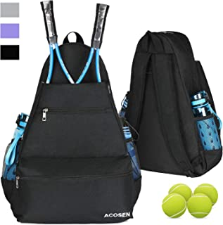 ACOSEN Tennis Bag Tennis Backpack - Large Tennis Bags for Women and Men to Hold Tennis Racket,Pickleball Paddles, Badminton Racquet, Squash Racquet,Balls and Other Accessories