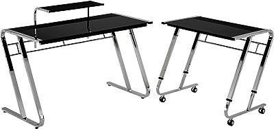 Amazon Com Z Line Designs Vance L Desk Black Kitchen