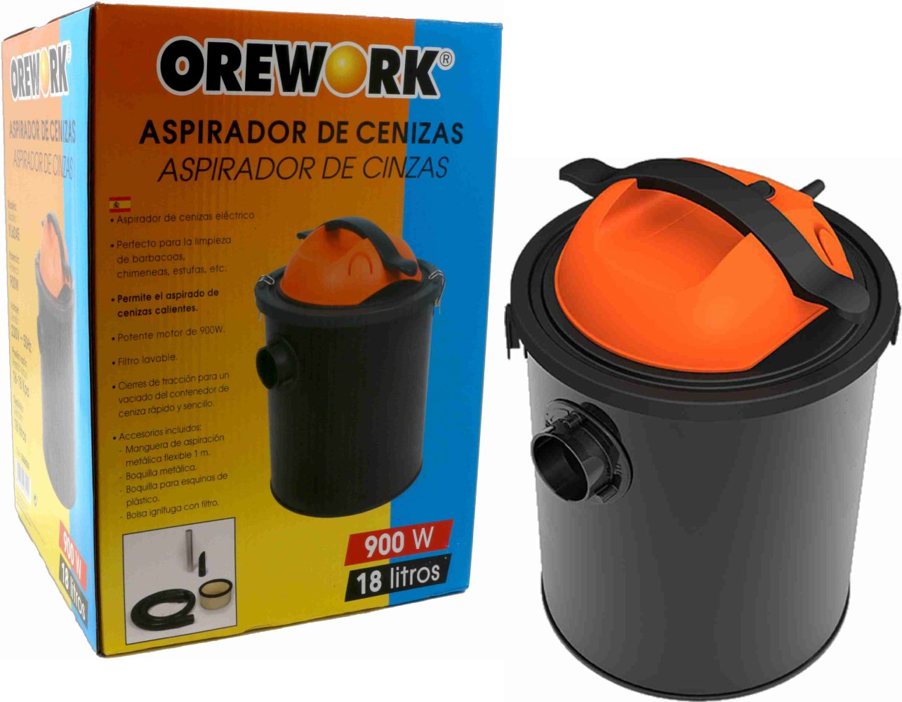 Aspirador Ceniza Hot 18 Lt 900w: Amazon.es: Hogar