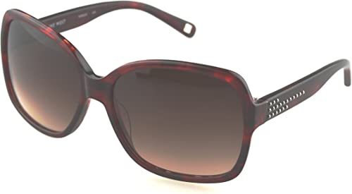 Gradient Square Women s Sunglasses NINE WEST 521 58 644 58 Brown Color lens