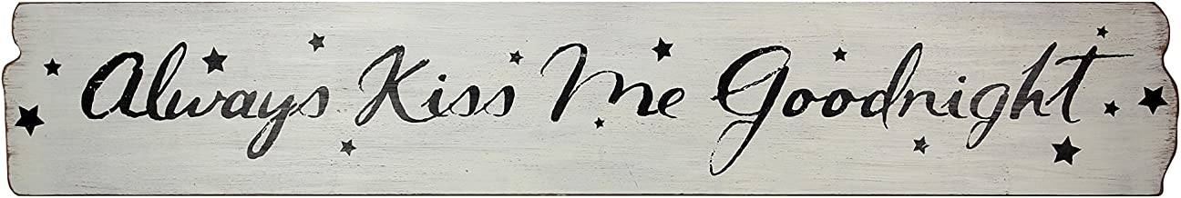 Young's Wood Always Kiss Me Goodnight Decorative Sign, 40