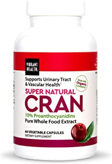 Vibrant Health, Super Natural Cran, Urinary and Immune Health Formula with Cranberry Concentrate, 60 Capsules (FFP)