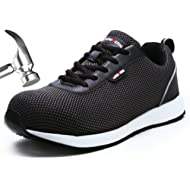 LARNMERN Steel Toe Shoes Men, Work Safety Sneakers Reflective Strip Lightweight Industrial &...