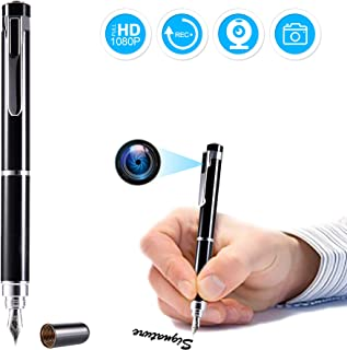 Hidden Spy Pen Camera, Yumfond Video Recorder with Photo Taking, HD 1080P Portable Digital Nanny Camcorder, Mini Covert DV Cam Multifunction Ink Pen for Business, Conference and School