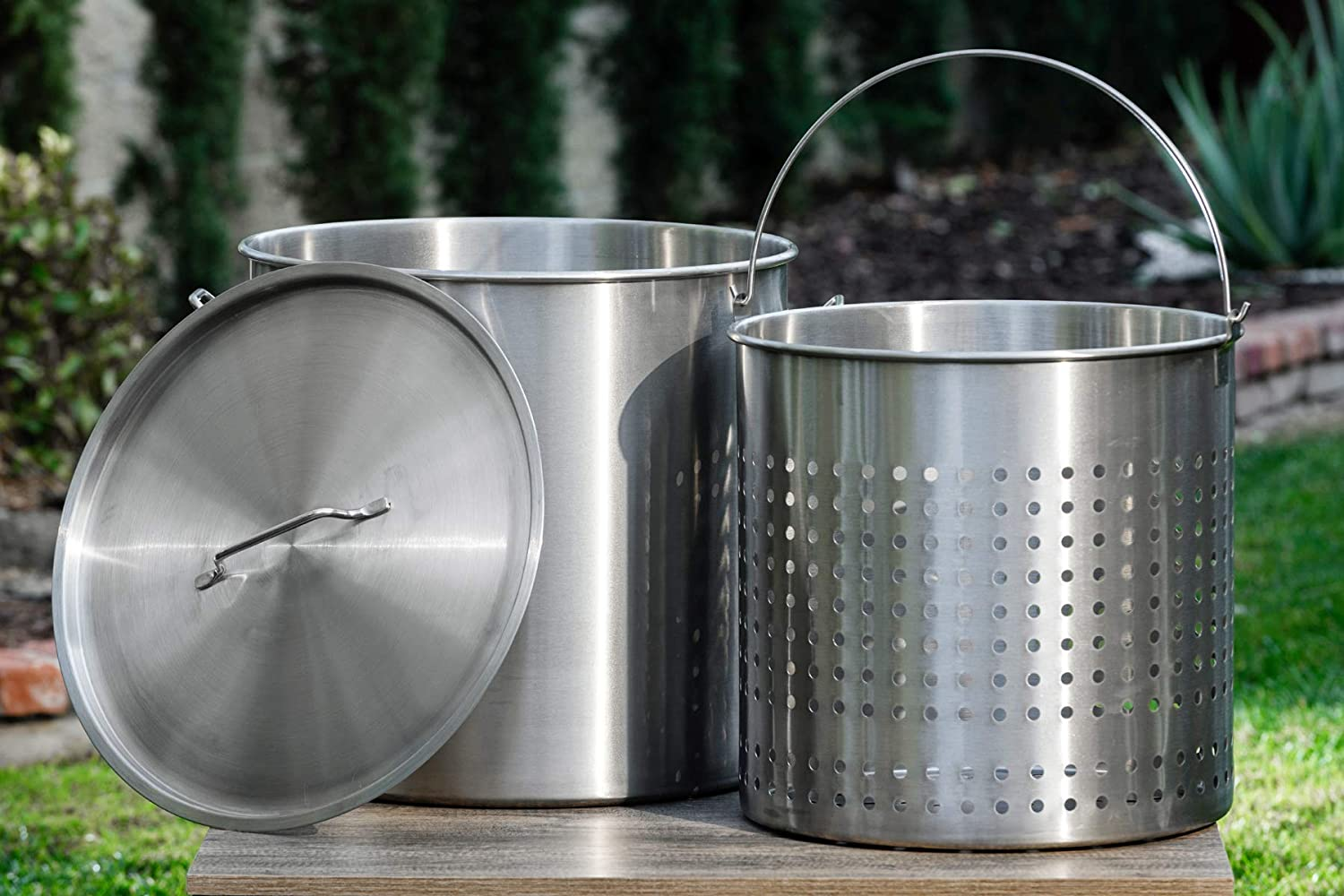 Barton Commercial Stainless Steel Stock Pot Low price w Some reservation Lid Steamer Basket
