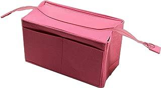 [Fits Neverfull MM/Speedy 30, Pink] Felt Organizer (with Top Zipper), Bag in Bag, Wool Purse Insert, Customized Tote Organize, Cosmetic Makeup Diaper Handbag