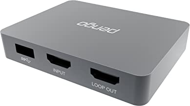 Pengo 4K HDMI Pass-Through Grabber, Game Capture Card at 1080p @60, No Driver, Works with Windows, Mac OSX, min to no Latency, Livestream for Xbox One, PS4 (no HDCP), Switch (Aluminum)