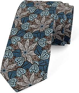 Corbata para hombre, estampado de hojas de mandala, crema Umber ...