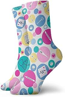 Be-ryl, Prueba de Embarazo Stick Audífonos Ocio Calcetines de algodón Calcetines Deportivos Unisex