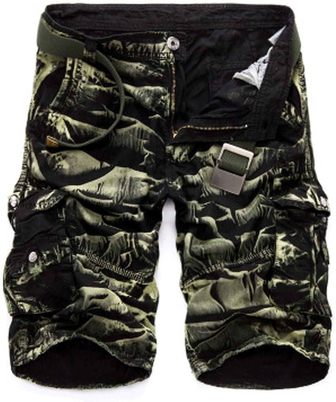 Military Cargo Shorts Men Summer Camouflage Pure Cotton Comfortable Camo-BG Camo-31