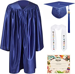 GraduationMall Kindergarten Graduation Cap Gown Stole Package with 2019 Tassel, Certificate