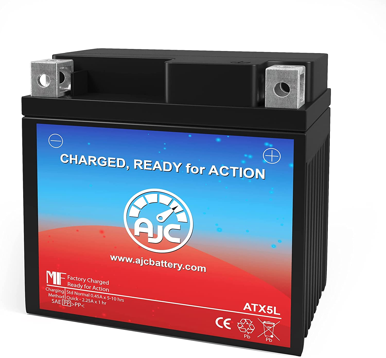 AJC Battery Compatible with Power Sonic PTX5LBS-FS Powersports Battery