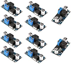 MakerHawk 10pcs LM2596 DC-DC Buck Converter High Efficiency Step Down Voltage Regulator 3.2-46V to 1.25-35V 3A Adjustable Power Supply Step Down Module
