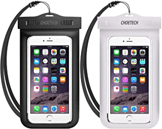 Universal Waterproof Pouch, CHOETECH 2Pack Clear Transparent Cellphone Waterproof Compatible with iPhone 11/11 Pro/11 Pro Max/Xs/XS Max/XR, Samsung Galaxy Note 10/S10/S9, All Devices Up to 6.5 Inches