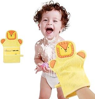 Baby Bath Mitt Ducky Puppet Washcloths Kids Wash Gloves Bath Sponge Body Scrub for Toddler