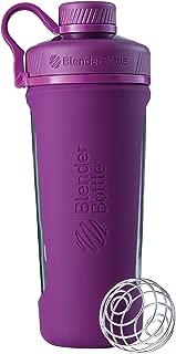 BlenderBottle Radian Glass Shaker Bottle, Plum, 28-Ounce
