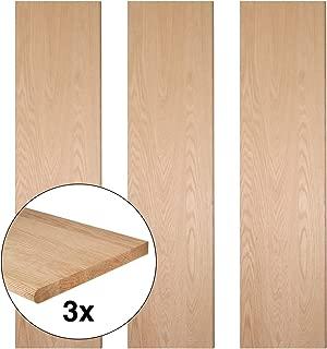 JMP Wood Straight Stair Treads - Red Oak (Set of 3) (48